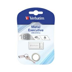 USB Stick Verbatim USB2.0 StorenGo Metal Executive 16GB, srebrni