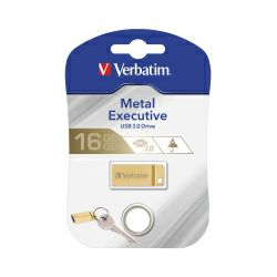 Verbatim USB3.0 StorenGo Metal Executive 16GB, zlatni