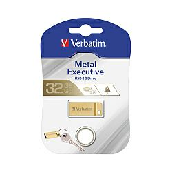 USB Stick Verbatim USB3.0 StorenGo Metal Executive 64GB, zlatni
