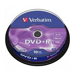 VERBATIM DVD+R 10kom S, 16x, 4.7GB