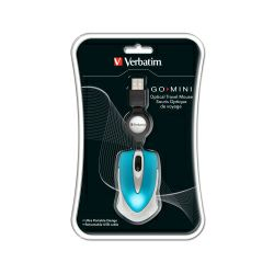 Miš Verbatim GO Mini Optical Travel USB3.0,2.0, Caribbean Blue