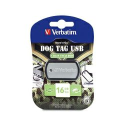 Verbatim USB2.0 StorenGo 16GB Dog Tag, crni