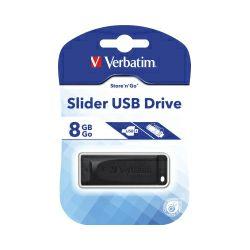 Verbatim USB2.0 StorenGo Slider 8GB, crni