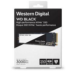 SSD WD Black NVMe 250GB, NVMe M.2 2280,R3000/W1600