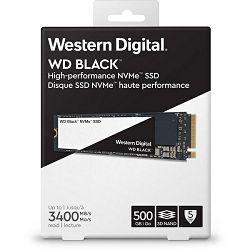 SSD WD Black NVMe 500GB, NVMe M.2 2280,R3400/W2600