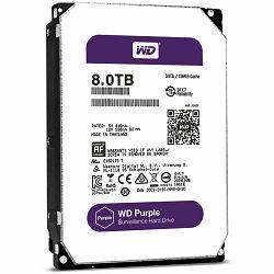Tvrdi disk HDD AV WD Purple (3.5, 8TB, 128MB, 5400 RPM Class, SATA 6 Gb/s)