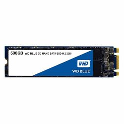 SSD Western Digital 500GB, Blue 3D, M.2 SATA