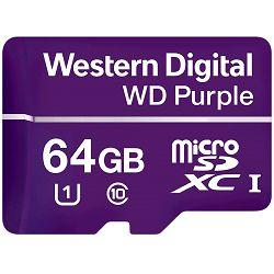 Memorijska kartica CSDCARD WD Purple (MICROSD, 64GB)