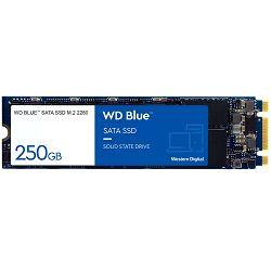 SSD WD Blue (M.2, 250GB, SATA III 6 Gb/s, 3D NAND Read/Write: 550 / 525 MB/sec, Random Read/Write IOPS 95K/81K)