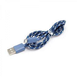 Kabel USB za android smartphone, plavi, 1m x 5