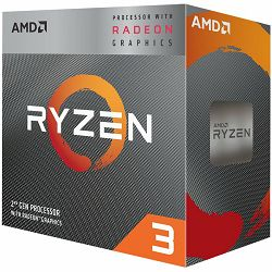 Procesor AMD Desktop Ryzen 3 4C/4T 2200G (3.7GHz,6MB,65W,AM4) box, RX Vega Graphics, with Wraith Stealth cooler