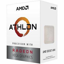 Procesor AMD CPU Desktop 2C/4T Athlon 3000G (3.5GHz,5MB,35W,AM4) box, with Radeon Vega 3 Graphics