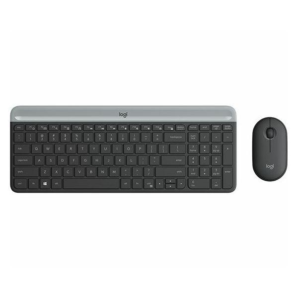 Bežični desktop komplet MK470 Slim Wireless crna