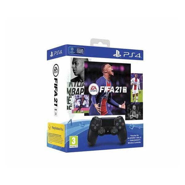 PS4 Dualshock Controller v2 Black + FIFA 21 VCH + FUT VCH +