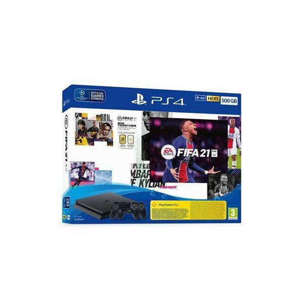 PS4 500GB F Chassis Black + FIFA 21 + PS Plus 14dana + dod k