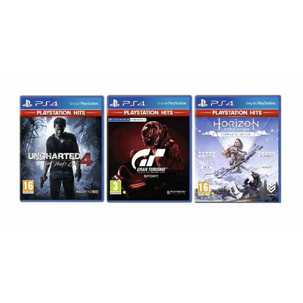 3 igre PS4: Gran Turismo+Uncharted 4:A Thiefs End+Horizon Z