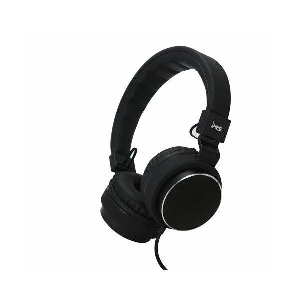MS STYLE crne slušalice s mikrofonom