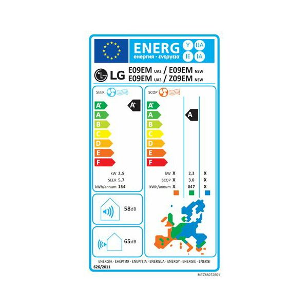 LG klima E09EM set