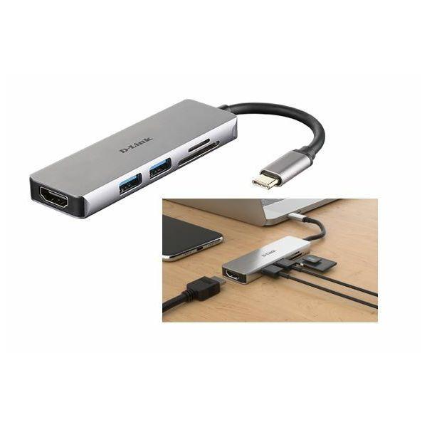 D-Link DUB-M530 5-u-1 USB-C Hub sa HDMI i SD/microSD čitačem