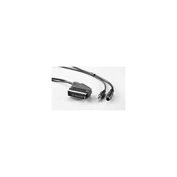 Roline VALUE DVD kabel, Scart (M) / SVHS (M), 3.5mm stereo M, 10m