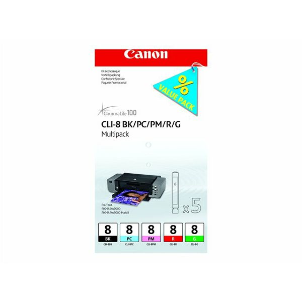 CANON CLI-8 BK/PC/PM/R/G Multi Pack