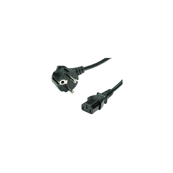 Roline naponski kabel, ravni IEC320 C13 konektor, crni, 3.0m