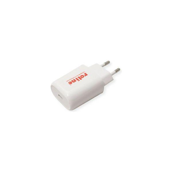 Roline USB zidni punjač 1-port (1×USB-C, QC4.0), 18W