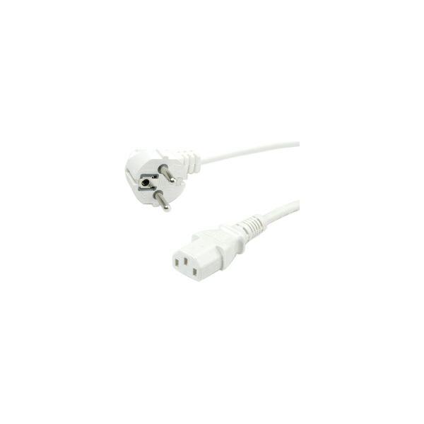 Naponski kabel Roline VALUE, ravni IEC 320-C13 konektor, bijeli, 1.8m