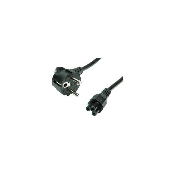 Roline VALUE naponski kabel, ravni Compaq IEC 320-C5, 3 polni, crni, 1.8m