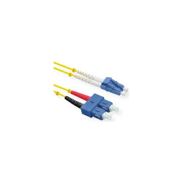Roline optički mrežni kabel LC-SC 9/125µm, Duplex, OS2, 2.0m, žuti