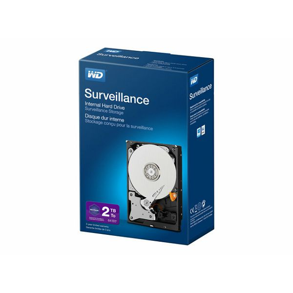 WD Purple Desktop HDD 2TB  Retail