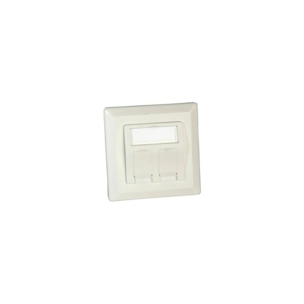 Roline zidna utičnica za keystone, 2 porta