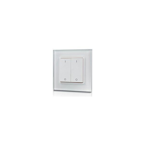 EcoVision LED RF upravljač, oblik prekidača p/ž, 2 zone, bijela boja