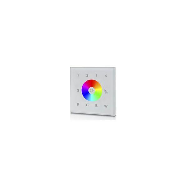 LED zidni DMX i RGBW upravljač za trake, 4 zone- bijeli