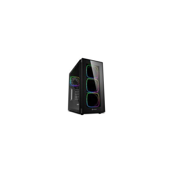 Sharkoon TG6 RGB Midi Tower ATX kućište, bez napajanja, prozirna prednja/bočna stranica, crno