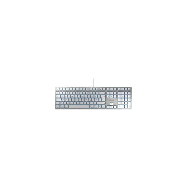 Cherry KC-6000 Slim tipkovnica za MAC, USB, bijela/srebrna