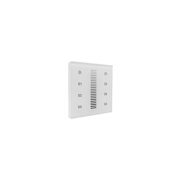 EcoVision LED zidni  RF upravljač za trake, 4 zone, napajanje 230V AC, bijeli