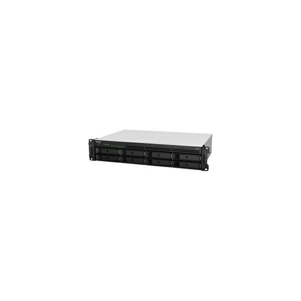 Synology RS1221RP+ RackStation 8-bay NAS server, AMD Ryzen V1500B Quad-Core 2.2 GHz, 4GB DDR4, Hot-Swap 2.5