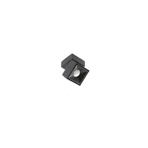 Nadgradna LED svjetiljka BIANCO 8W 4000K 680Lm IP20 zakretna 360°- crna ( kvadratna )