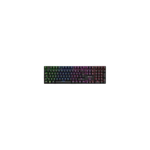 Sharkoon PureWriter RGB, igraća mehanička tipkovnica, Kailh plavo, USB