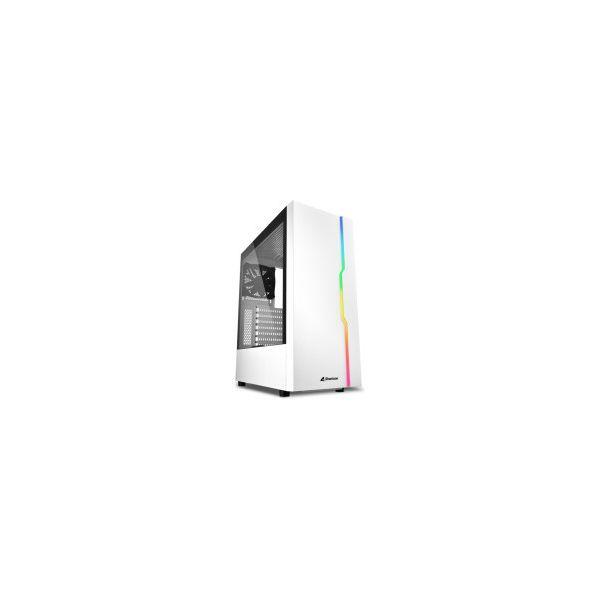 Kućište Sharkoon RGB SLIDER Midi Tower ATX ,prozirna bočna stranica, stražnji ventilator 120mmi, bez napajanja, bijelo
