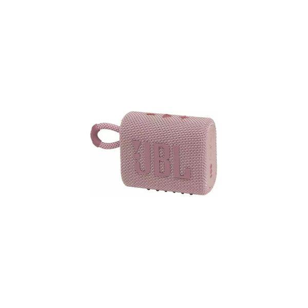 JBL Go 3 prijenosni zvučnik BT5.1, vodootporan IP67, roza