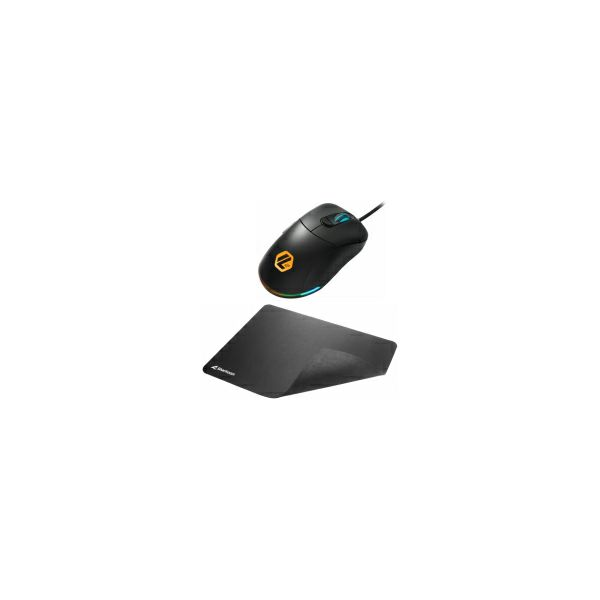 Sharkoon Light2 100 optički igraći miš, RGB, 5000dpi, USB, crni + Sharkoon 1337 V2 M igraća podloga (POKLON)