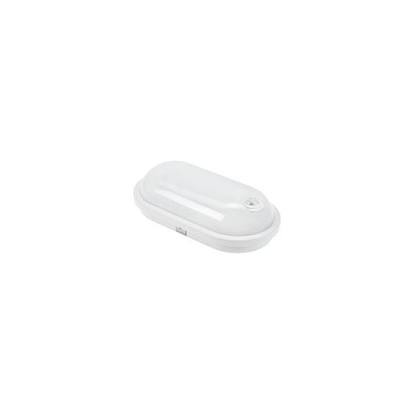 LED plafonijera ovalna 20W, 1850lm, 4000K, IP54, IK07 -  PIR senzor