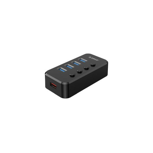 Orico 4-portni USB3.0 hub sa vanjskim napajanjem, crni (ORICO SWU3-4A-EU-BK-BP)