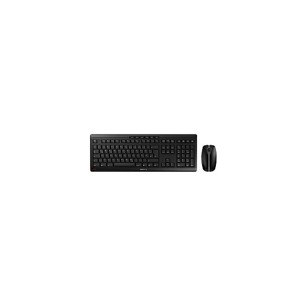Cherry Stream Desktop Recharge tiha bežična tipkovnica + miš, crna