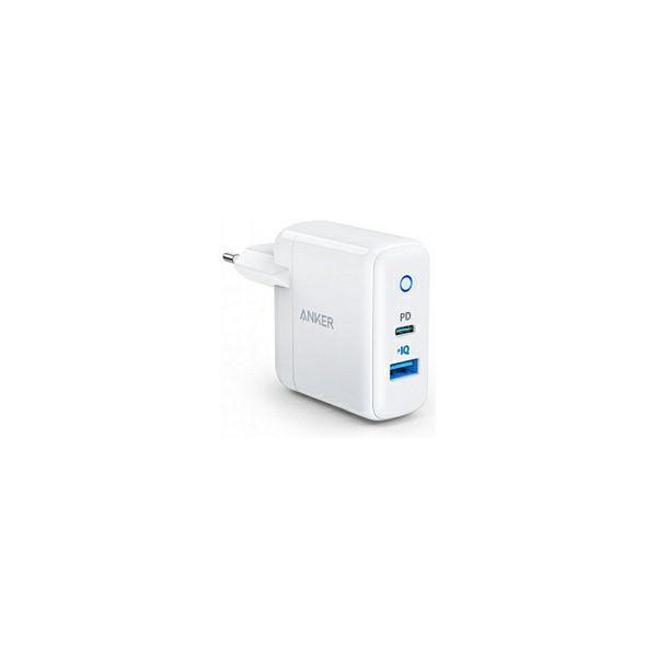 Anker PowerPort PD+2 zidni adapter/punjač, 2×18W USB-C + 1×15W USB-A, Power IQ
