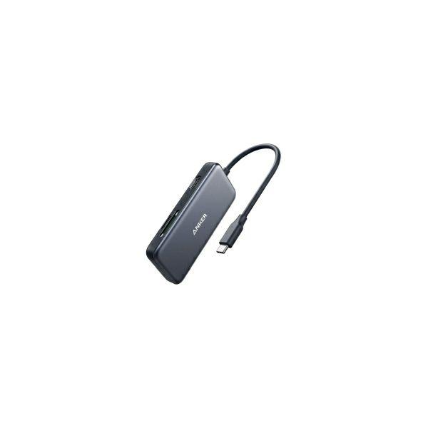 Anker PowerExpand 5-u-1 USB-C Media Hub, 4K USB-C na HDMI, SD/TF čitač kartica, 2×USB 3.0