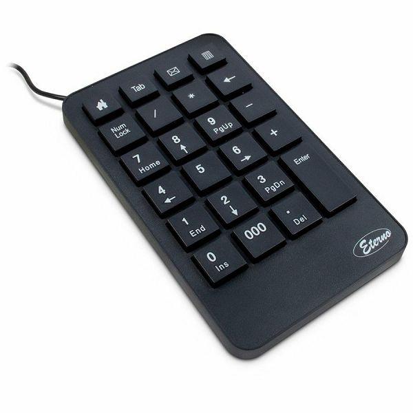 INTER-TECH KB-120 Numerical Keypad, 23 keys, function keys for browser, e-mail, calculator, TAB, Backspace and 000