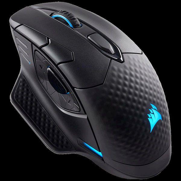 Miš CORSAIR Dark Core RGB Performance, optički, 16000 dpi, bežični, crni, USB